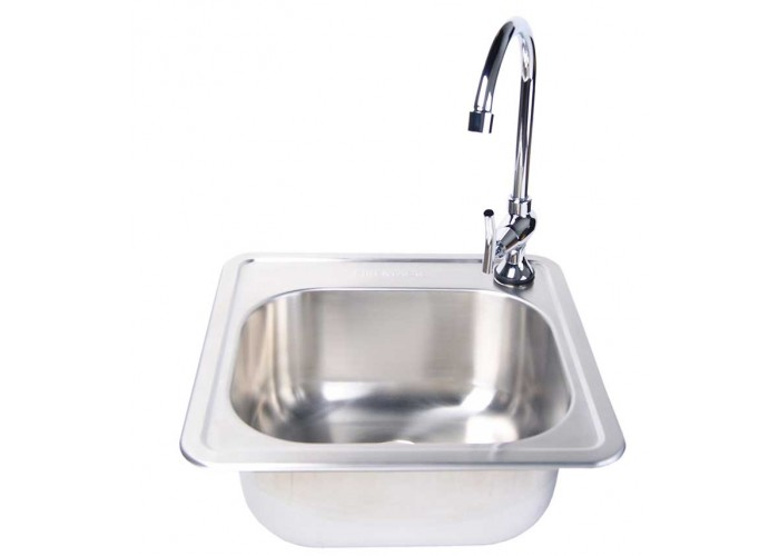 Fire Magic Stainless Steel Sink And Chrome Faucet Set