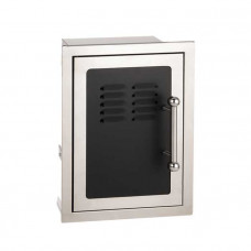 Fire Magic Black Diamond Single Door With Tray and Louvers with Soft Close System, Left Hinge