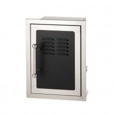 Fire Magic Black Diamond Single Door With Tray and Louvers with Soft Close System, Right Hinge