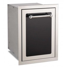 Fire Magic Black Diamond Trash Cabinet with Dual Bins
