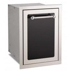Fire Magic Black Diamond Trash Cabinet with Dual Bins