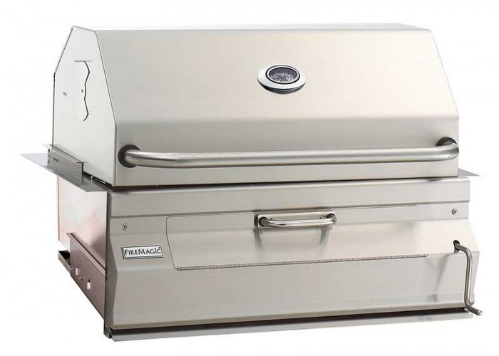 Fire Magic Charcoal Built In Barbecue Grill With Smoker