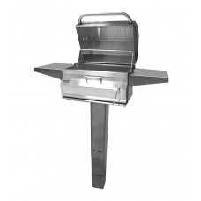 Fire Magic Charcoal In Ground Post Mount Grill with Smoker Hood (24 x 18)